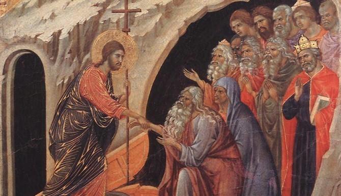 """Duccio, """"Zstąpienie do Otchłani"""" (między 1308 a 1311)"""