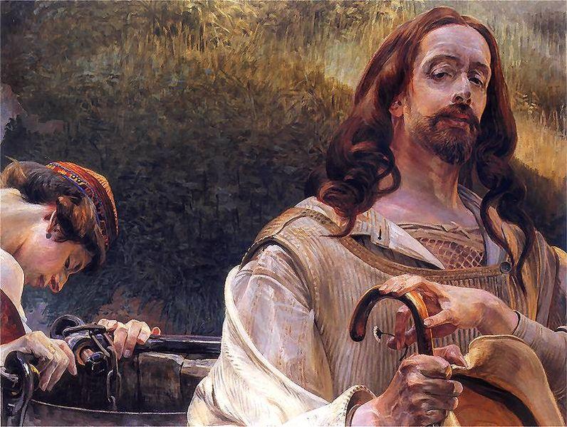Malczewski Jacek Chrystus i Samarytanka 2.jpg, źródło: Wikimedia Commons