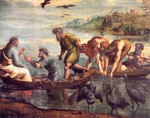 Rafael, Cudowny połów ryb; za: http://www.diecezja.bielsko.pl/obrazy/5_n_z_c.htm
