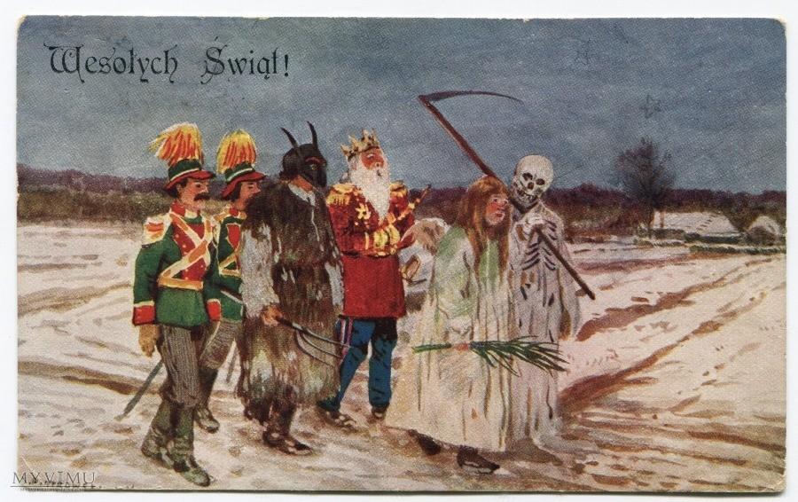 """""""Kolędnicy"""" - obraz z 1929 r. - fot. Wikimedia Commons"""