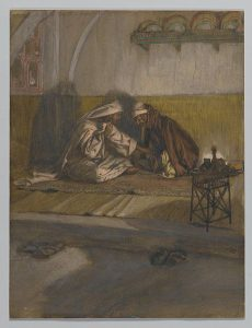 Brooklyn Museum - Interview between Jesus and Nicodemus (Entretien de Jésus et de Nicodème) - James Tissot.jpg, źródło: Wikimedia commons