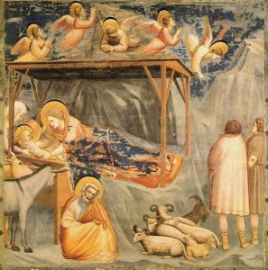 Giotto - Scrovegni - -17- - Nativity, Birth of Jesus.jpg, źródło: Wikimedia Commons