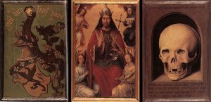Hans Memling - Triptych of Earthly Vanity and Divine Salvation (rear) - WGA14943, źródło: Wikimedia Commons
