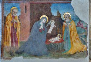 Nativity fresco Santo Corpo di Cristo Brescia cropped.jpg, źródło: Wikimedia Commons
