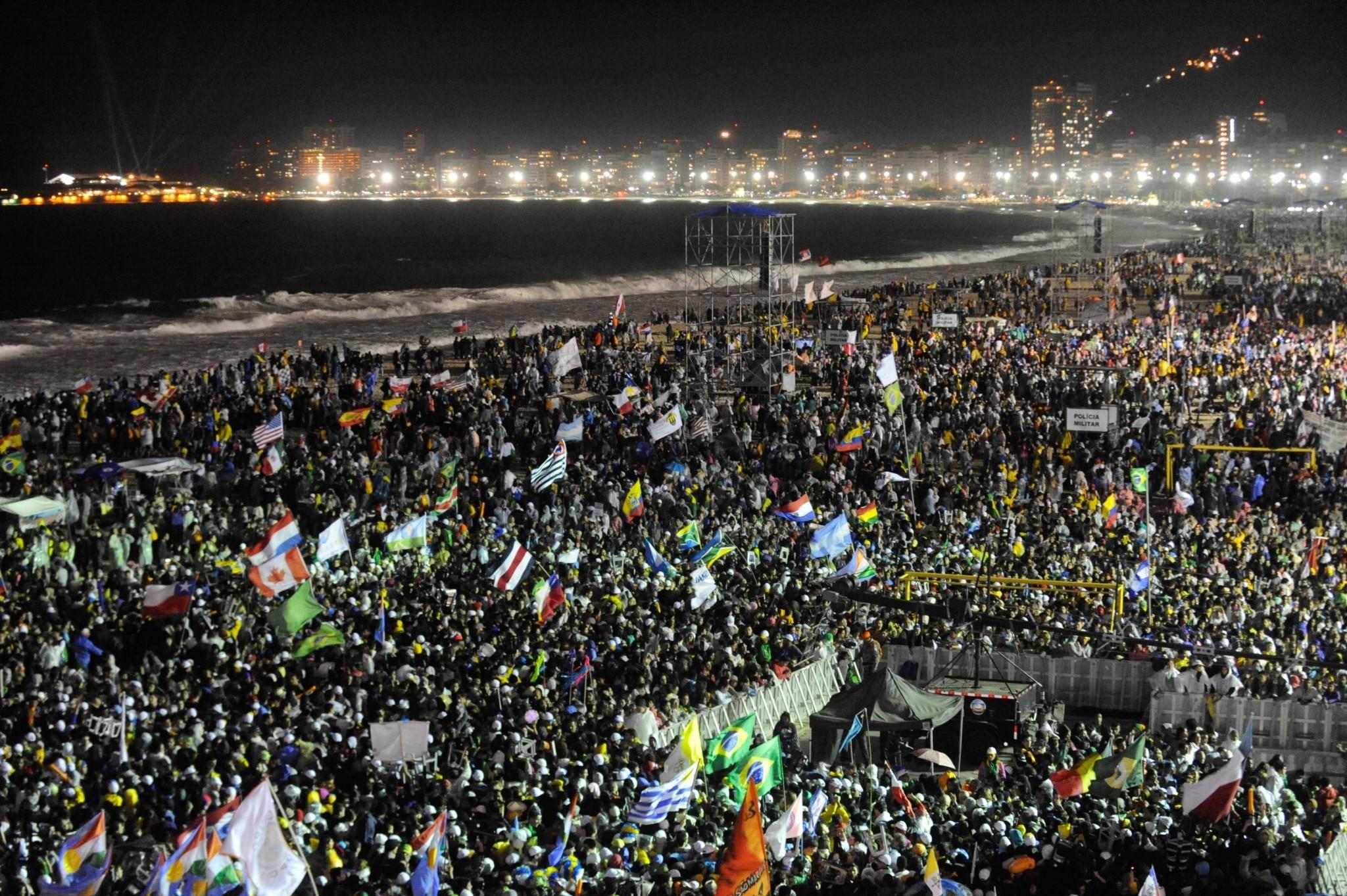 Światowe Dni Młodzieży 2013 w Rio de Janeiro (fot. Wikimedia Commons) - czy Kraków będzie gotów na podobny zalew pielgrzymami?