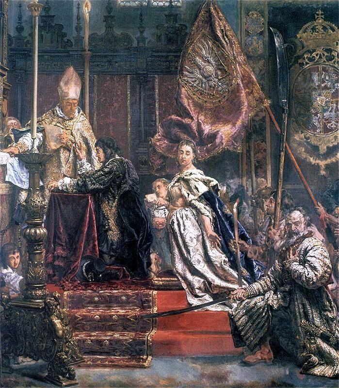 Śluby Lwowskie - fragment obrazu Jana Matejki (fot. Wikimedia Commons)