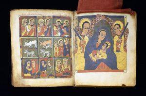 Ethiopian - Leaf from Gunda Gunde Gospels - Walters W8502V - Open Group.jpg, źródło: Wikimedia commons