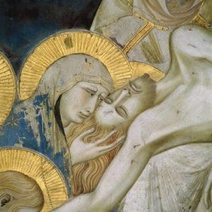 Pietro lorenzetti, compianto (dettaglio) basilica inferiore di assisi (1310-1329).jpg, źródło: Wikimedia commons