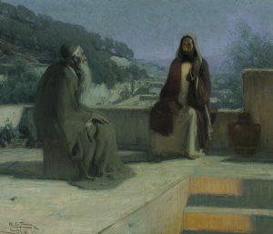 Henry Ossawa Tanner - Jesus and nicodemus.jpg, źródło: Wikimedia commons