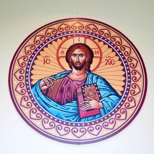 Saint Aloysius Catholic Church (Shandon, Ohio) - narthex, Christ icon.jpg, źródło: Wikimedia Commons